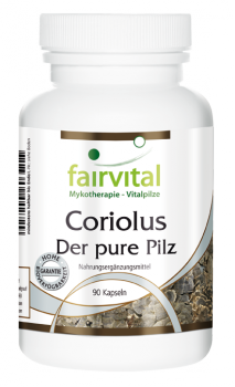 Coriolus - the pure mushroom - 90 capsules | vital substances & healthcare products | Fairvital