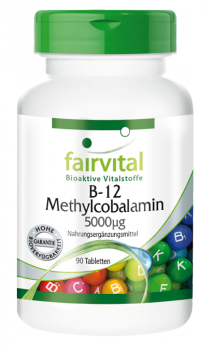 B-12 Methylcobalamin 5000µg – 90 tablets | vital substances & healthcare products | Fairvital