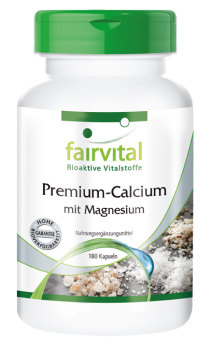 Premium calcium with magnesium - 280 capsules | vital substances & healthcare products | Fairvital