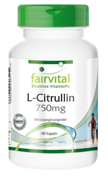 L-citrulline 750mg -180 capsules | vital substances & healthcare products | Fairvital