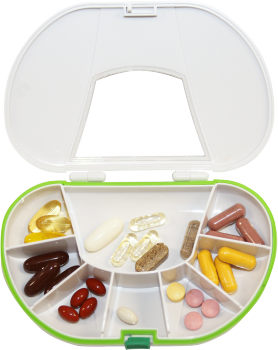 Vitamin Caddy - pill box - 15cm-image