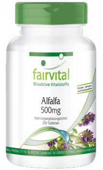 Alfalfa 500mg - 250 tablets | vital substances & healthcare products | Fairvital