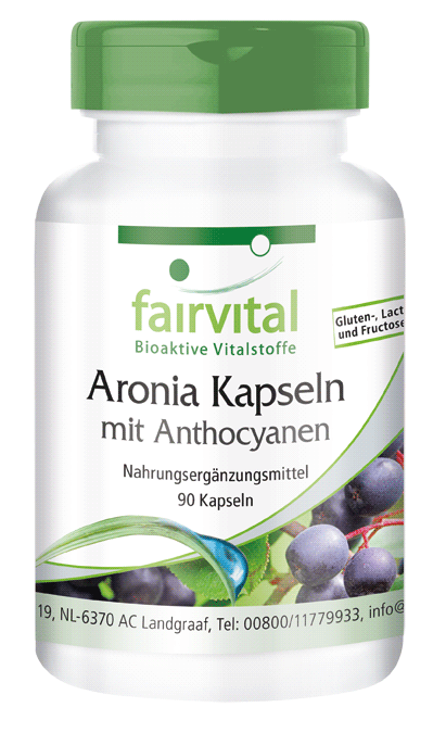 Aronia capsules with anthocyanins - 90 capsules | vital substances & healthcare products | Fairvital