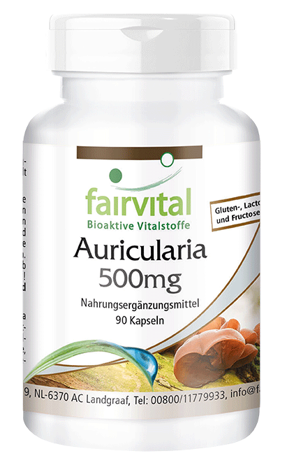 Auricularia 500mg - 90 capsules | vital substances & healthcare products | Fairvital