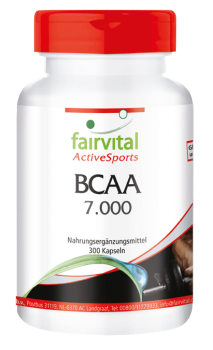 BCAA 7000 - 300 capsules | vital substances & healthcare products | Fairvital