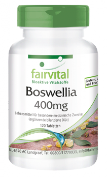 Boswellia frankincense 400mg – 120 tablets | vital substances & healthcare products | Fairvital