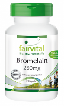 Bromelain 250mg - 120 DRCaps®, gastroresistant | vital substances & healthcare products | Fairvital