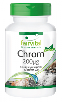 Chromium 200µg - 90 tablets | vital substances & healthcare products | Fairvital