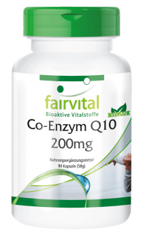Coenzyme Q10 200mg - 90 capsules | vital substances & healthcare products | Fairvital