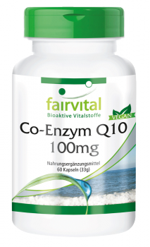Coenzyme Q10 100mg - 60 capsules | vital substances & healthcare products | Fairvital