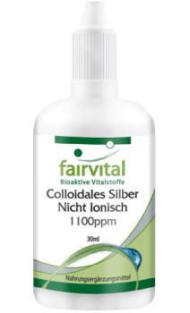 Colloidal silver 1100ppm – 30ml non-ionic | vital substances & healthcare products | Fairvital