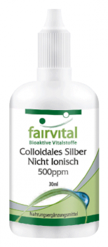 Colloidal silver 500ppm – 30ml non-ionic silver | vital substances & healthcare products | Fairvital