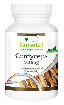 Cordyceps - 500mg - 90 capsules | vital substances & healthcare products | Fairvital