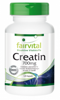 Creatine 700mg - 120 capsules | vital substances & healthcare products | Fairvital