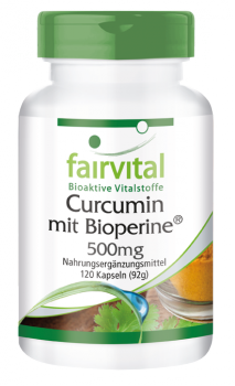 Curcumin with bioperine - 120 capsules | vital substances & healthcare products | Fairvital