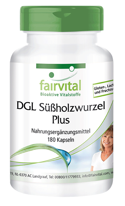 DGL Liquorice root Plus - 180 capsules | vital substances & healthcare products | Fairvital