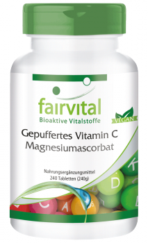 Buffered vitamin C as magnesium ascorbate - 240 tablets | vital substances & healthcare products | Fairvital