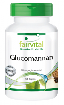 Glucomannan 500mg - 180 capsules | vital substances & healthcare products | Fairvital