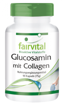 Glucosamine with collagen - 90 capsules-image