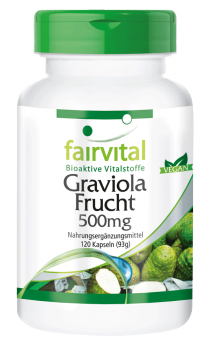 Graviola Fruit 500mg - 120 capsules | vital substances & healthcare products | Fairvital