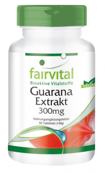Guarana extract 300mg - 90 tablets-image