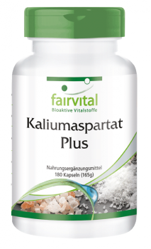 Potassium aspartate Plus - 180 capsules | vital substances & healthcare products | Fairvital