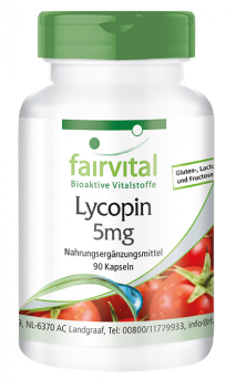 Lycopene 5mg - 90 capsules | vital substances & healthcare products | Fairvital
