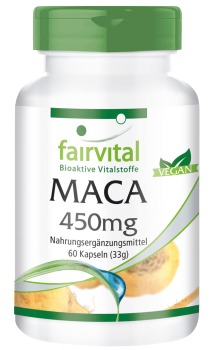 MACA 450mg - 60 Capsules | vital substances & healthcare products | Fairvital