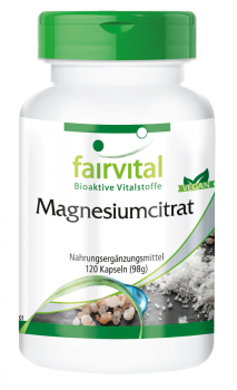 Magnesium citrate - 120 capsules | vital substances & healthcare products | Fairvital