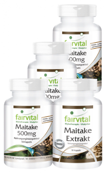 Maitake supply for 3 months - 4 x 90 capsules | vital substances & healthcare products | Fairvital