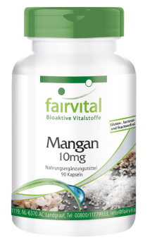 Manganese 10mg - 90 capsules | vital substances & healthcare products | Fairvital