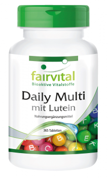 Daily Multi with lutein – 365 tablets | vital substances & healthcare products | Fairvital