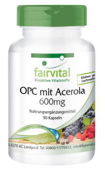 OPC 600mg with acerola - 90 capsules-image