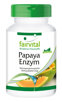 Papaya Enzyme - 100 chewable tablets | vital substances & healthcare products | Fairvital
