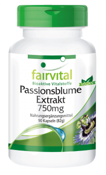 Passionflower extract 750mg - 90 capsules | vital substances & healthcare products | Fairvital
