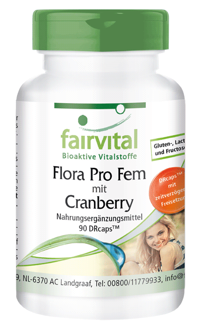 Flora Pro Fem with Cranberry - 90 capsules | vital substances & healthcare products | Fairvital