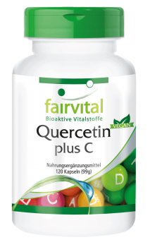 Quercetin plus C – 120 capsules | vital substances & healthcare products | Fairvital