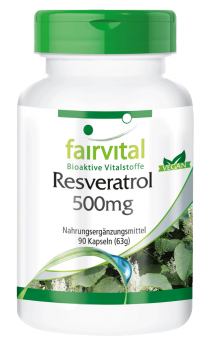 Resveratrol 500mg - 90 capsules | vital substances & healthcare products | Fairvital