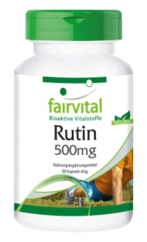 Rutin 500mg - vitamin P - 90 capsules | vital substances & healthcare products | Fairvital