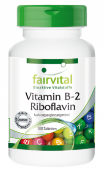 Vitamin B-2 Riboflavin - 100 tablets | vital substances & healthcare products | Fairvital
