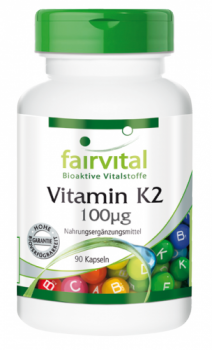 Vitamin K2 100µg – 90 capsules | vital substances & healthcare products | Fairvital