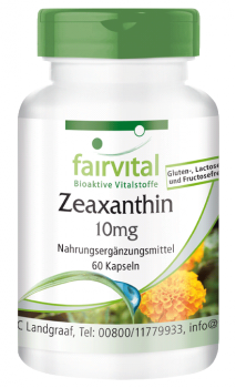 Zeaxanthin 10mg – 60 vegan capsules | vital substances & healthcare products | Fairvital