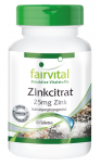 Zinc citrate containing 25mg zinc - 60 tablets