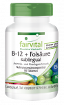 B-12 and folic acid sublingual with acerola-cherry taste – 90 tablets